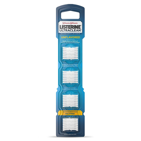 Listerine Ultraclean Access Flosser Refill Heads - Unflavored - 28ct